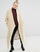 Пальто Monki Oversized Shearling Maxi